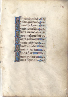 Litany from a Book of Hours, Fragment