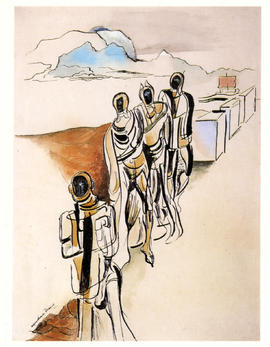 Wyndham Lewis, Four Figures in a Landscape