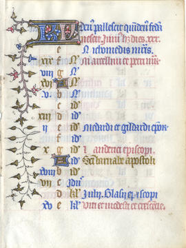 Leaf from a Calendar, Fragment