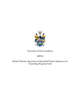 British Columbia Association of Specialized Victim Assistance and Counselling Programs fonds