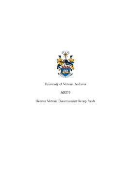 Greater Victoria Disarmament Group fonds