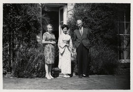 Photograph of Herbert Read at his house at Stonegrave taken by Tatsuo Fukai (4)