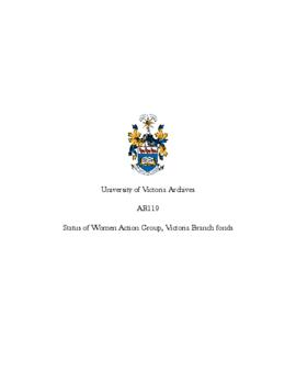 Status of Women Action Group, Victoria Branch fonds