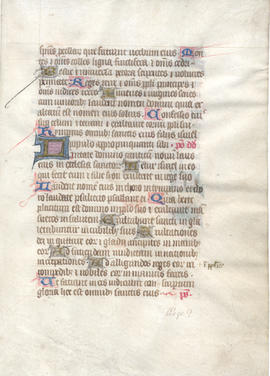 Leaf from a Book of Hours, Fragment