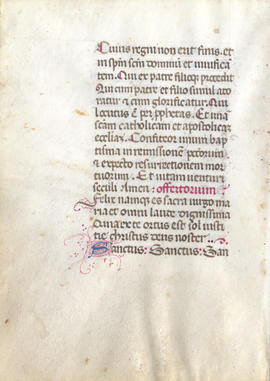 Leaf from a Missal, Fragment