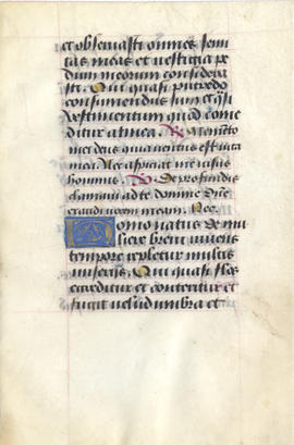 Folium from a Book of Hours, Fragment