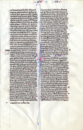 Folium from a Medieval Bible, Fragment