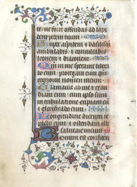 Folium from a Medieval Psalter, Fragment
